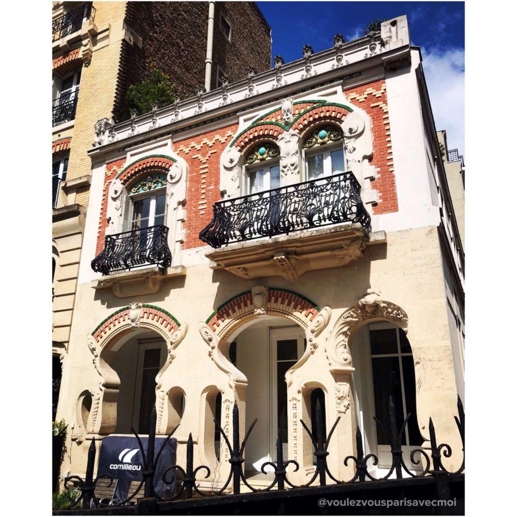 Maison Art Nouveau de l'architecte Victor Francione, au 58 avenue des Minimes, à Vincennes.