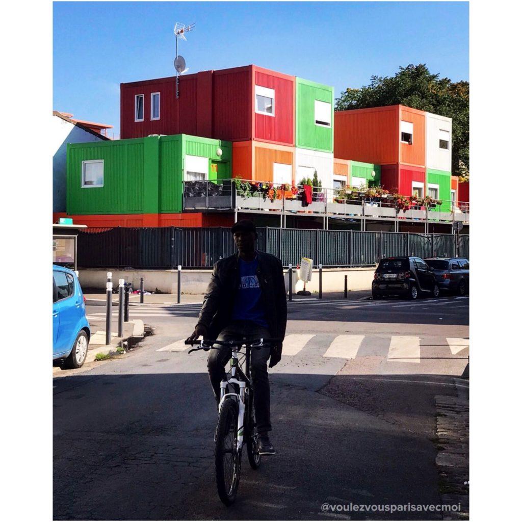 Maisons-containers de Montreuil.